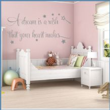 A Dream is a Wish that your Heart Makes Version 2 ~ Wall sticker / decals
